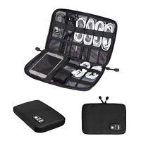 Portable Digital Usb Cable Earphone Travel Insert Storage Organizer Bag Case Us
