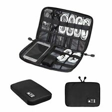 Portable Digital USB Cable Earphone Travel Insert Storage Organizer Bag Case