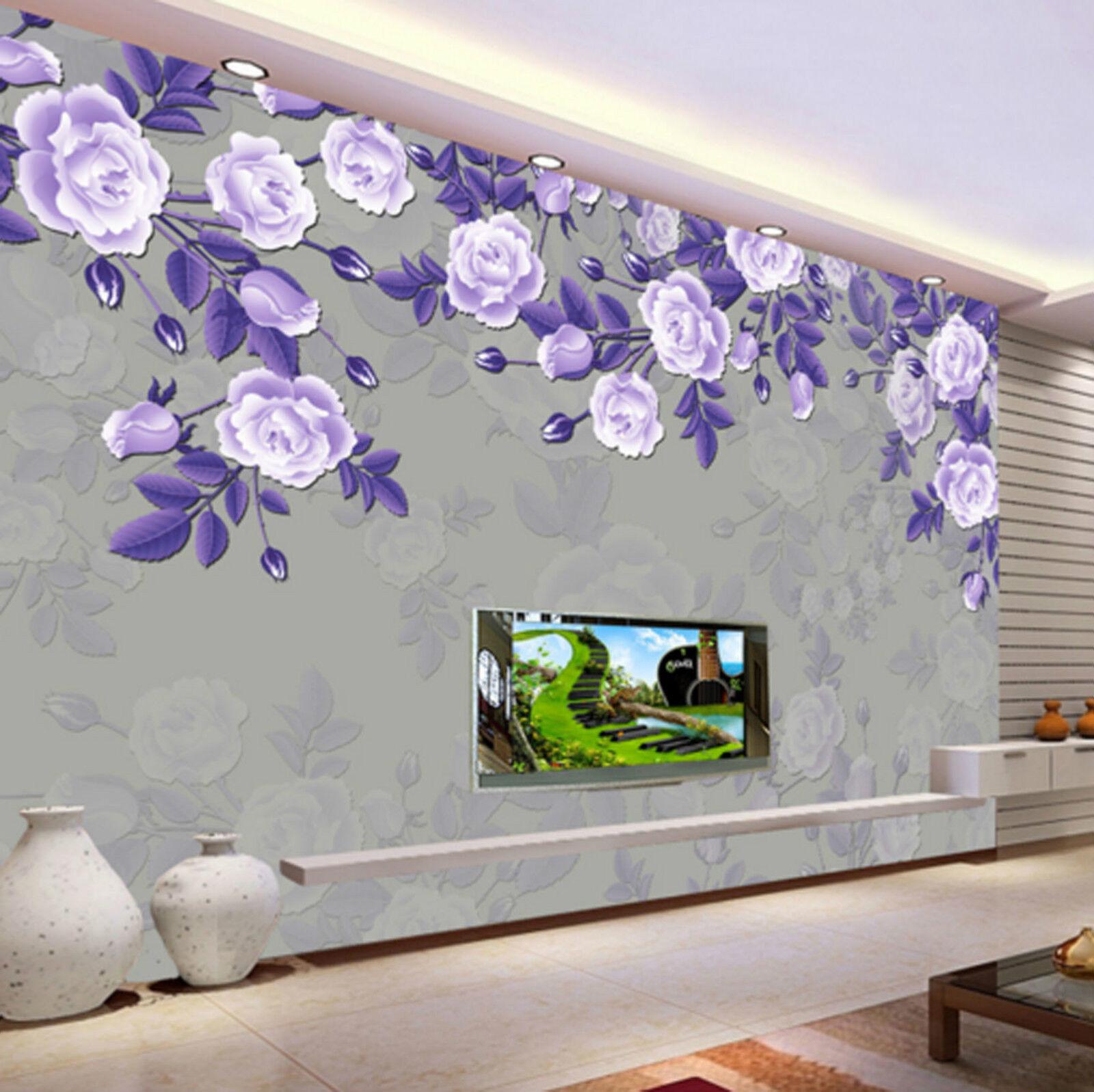 3D Dark lila Flower Plant 436 Wall Paper Wall Print Decal Wall AJ WALLPAPER CA