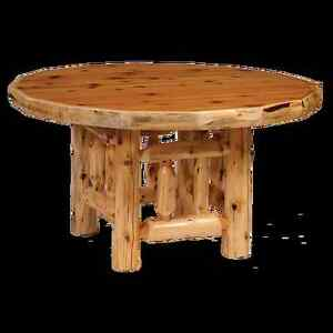 cedar round log dining table real wood amazing quality western rustic