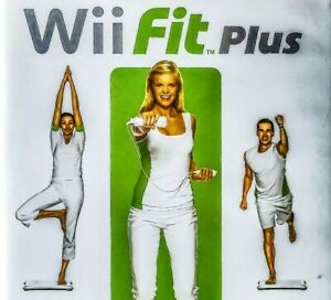 Wii-Fit-Plus-Nintendo-Game-2009-Complete-Tested-w-Manual-and-Case-Box-Bundle-Lot