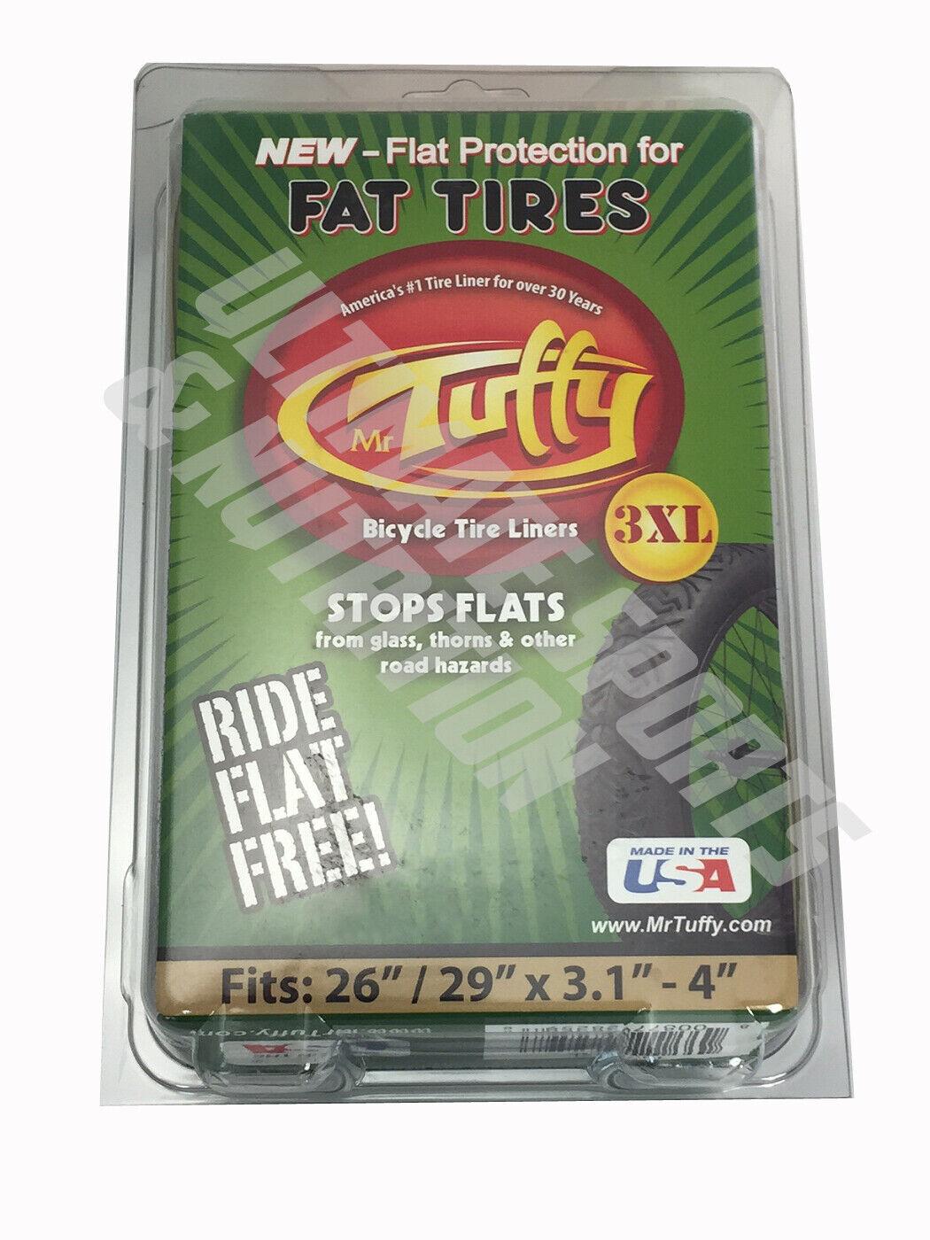 """Mr Tuffy XL SERIES Fat Bike 26// 29/"""" 2.35-5.0/"""" Tire Liners 2XL 3XL 4XL Stop Flats"""
