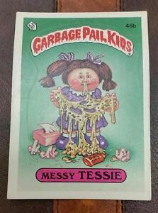 Vintage 1985 Garbage Pail Kids Series 2 Messy Tessie 45b Ebay