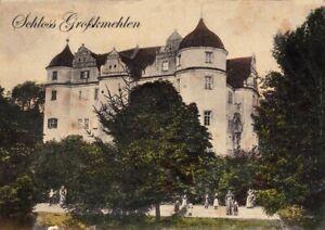 Ansichtskarte-Grosskmehlen-Ortrand-Schloss-Grosskmehlen-1910-Neudruck-2018