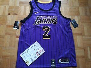 NWT Lonzo Ball LA Lakers City Edition Nike Swingman Jersey Men XL 52 ... d13f041a7