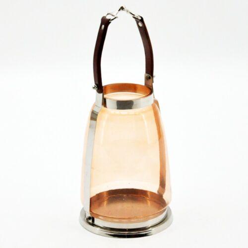 Horse Bit Tea Light Holder Candle Lantern Gold Glass Snaffle Bit Handle 33cm