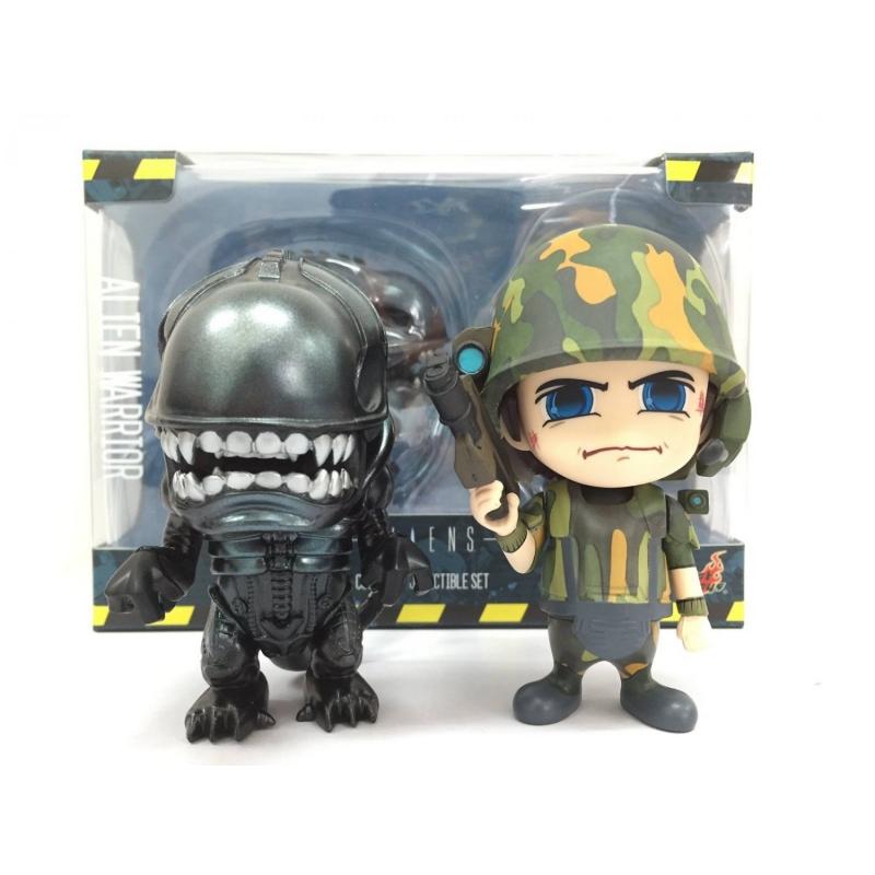 Cosbaby Alieni da Collezione Set Alieno Guerriero e Usc Marine Hot Toys