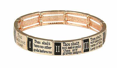 4030040 Ten 10 Commandments Stretch Bracelet Christian Scripture Religious