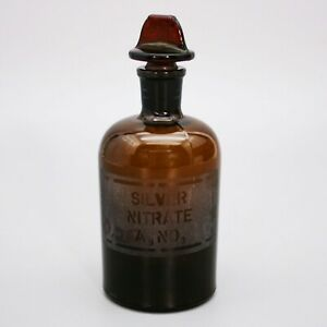 Vtg Silver Nitrate Laboratory Apothecary Reagent Pharmacy