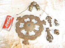 Lot of Antique Cast Iron Industrial Electric Lamp Parts & Finials