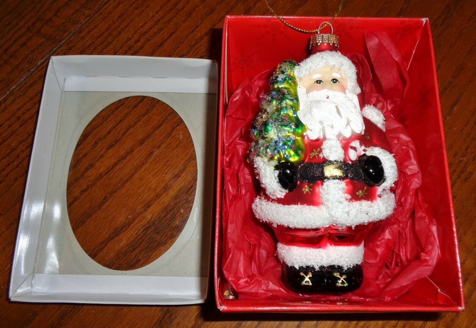 SANTA/'S HAT OLD WORLD CHRISTMAS BLOWN GLASS SANTA CLAUS HAT ORNAMENT NWT 32102