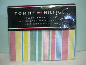 NEW-TOMMY-HILFIGER-DALY-CITY-PINK-200-THREADCOUNT-TWIN-SHEETS-BEDSHEETS-SET-SALE