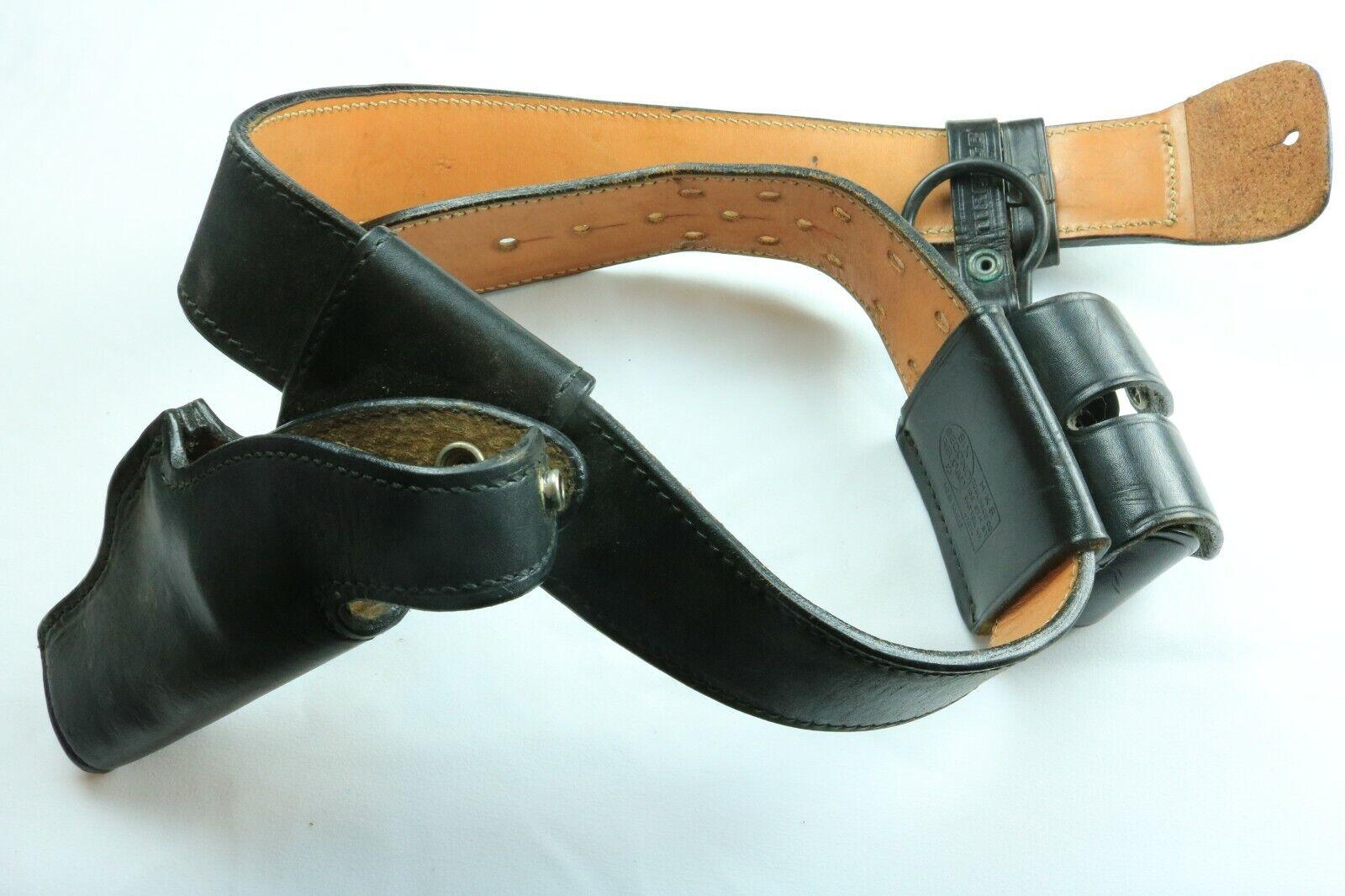 Funda Vintage y Bolsa de munición con Mag titular de la Luz en Negro Cinturón De Cuero