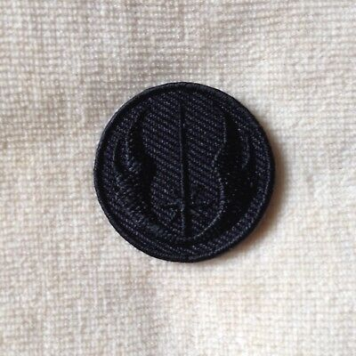 1.5 inches NEW JEDI ORDER STAR WARS EMBROIDERY IRON ON PATCH BADGE #ALL BLACK