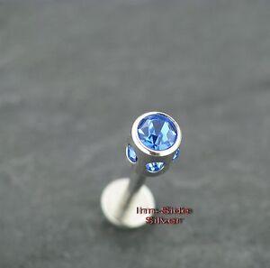 Piercingschmuck Ohrpiercing Tragus Multikristall Tonnenform Blau Labret Ohrstecker Lippe 1,2mm Um Das KöRpergewicht Zu Reduzieren Und Das Leben Zu VerläNgern