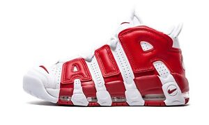 084d15d2d1c Nike Air More Uptempo Men s Size 9.5 White Gym Red OG Scottie Pippen ...