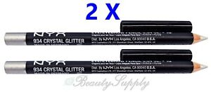 NYX-Shimmer-Liner-934-Crystal-Glitter-Eye-Eyebrow-Pencil-Pack-of-2-NEW