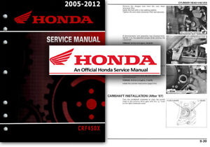 Crf450x service manual repair 2005-2013 crf450 tradebit.