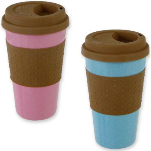 2x Kaffeebecher Kaffee-Becher Coffee Mug To Go m Hitzeschutz aus Silikon 14,5cm