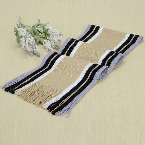 Men/'s Classic Scarf Shawl Winter Warm Long Fringe Striped Tassel Wrap Scarves US