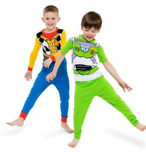 d50483781 Disney Toy Story Buzz Lightyear Woody Costume 4 PC Tight Fit Pajama ...