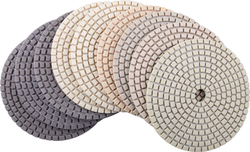 4  Dry Diamond Polishing Pads Best Value Set of 9 PCS for Granite Concrete Stone