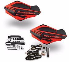 Powermadd Sentinel LED Handguards Guards Red Black Mount Kit Ski Doo Snowmobile