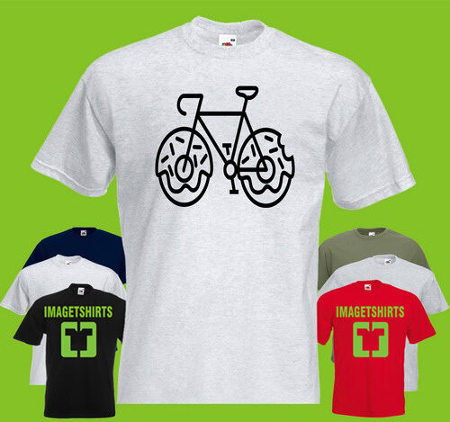 Bicycle Donuts Mens PRINTED T-SHIRT Donut Wheels Bike Funny