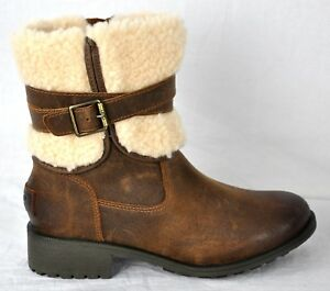 e405c6a4079 Details about UGG Women's Blayre III Waterproof Leather Boots 1095153  Chipmunk Size 6