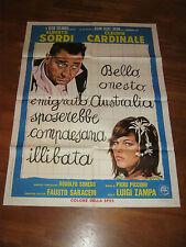 manifesto,BELLO ONESTO EMIGRATO AUSTRALIA... ALBERTO SORDI CLAUDIA CARDINALE