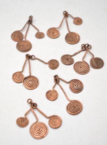 Beads Old Masai Turkana Copper 3 Pendant Set 38mm