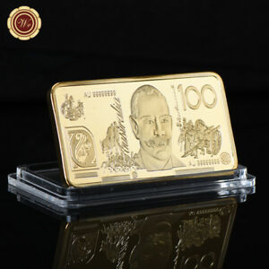 WR-Gold-Art-Bar-Bullion-Australian-100-Dollar-Novelty-Banknote-Rare-Collection