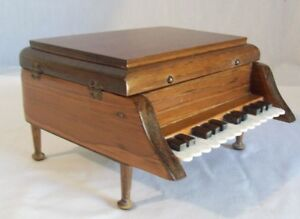Vintage Wooden Baby Grand Piano Jewelry Box Trinket box eBay