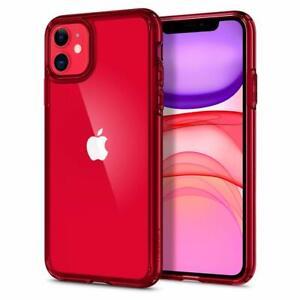 Custodia-iPhone-11-Spigen-Ultra-Hybrid-Antiurto-Bordo-TPU-Red-Crystal
