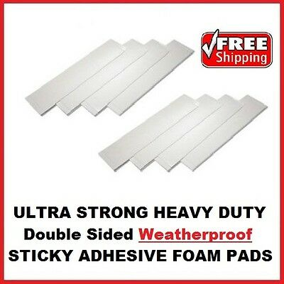 16X DOUBLE SIDED STICKY SELF ADHESIVE WEATHERPROOF NUMBER PLATE KIT PADS 115X60