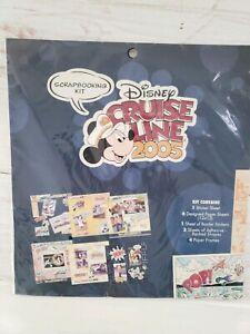 Disney-Cruise-Line-2005-12-x-12-Scrapbooking-Kit-Papers-Frames-Stickers-VTG