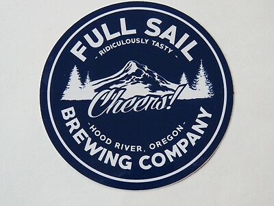 Beer Brewery STICKER ~ FULL SAIL Brewing Session Wheat Ale ~ Hood River OREGON