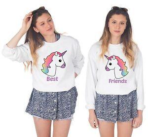 Unicorn Best Friends Matching Sweaters Jumper Sweatshirt Set Bffs