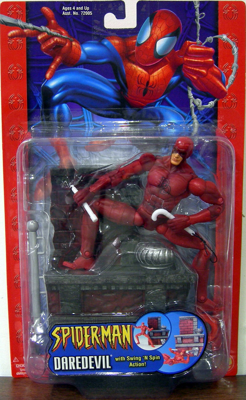 SPIDER-MAN Classics Collection_DAREDEVIL 6  figure with Swing 'N 'N 'N Spin Action_MIP a7185a
