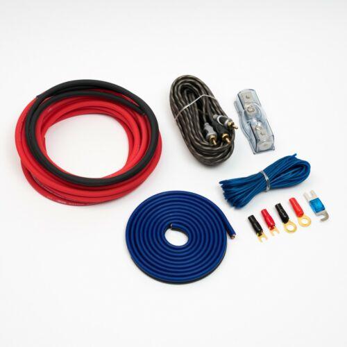 8 Indicador de amplificador Kit de cableado CCA Rojo 400W Rms 8 AWG 10MM2 de gran tamaño