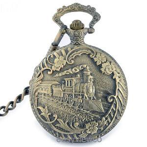 Retro train quartz pendant retro antique bronze necklace pocket retro train quartz pendant retro antique bronze necklace aloadofball Gallery