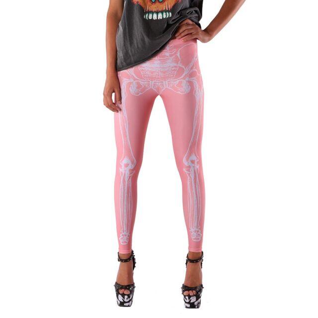 IRON FIST WISHBONE PINK WOMEN LEGGINGS XS, SMALL. MEDIUM,  XL, XXL (B18C)
