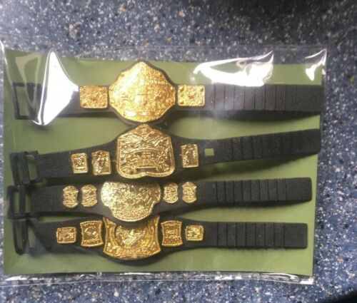 WWE Wrestling Figure  Belts For Figures x 4 Accessories Joblot Bundle
