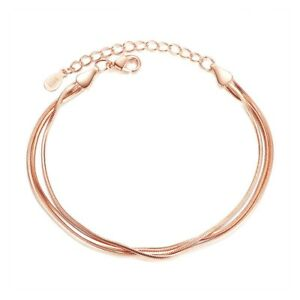 Fashion-Chic-Multi-layer-Women-Thin-Bracelet-Silver-Plated-Bangle-Chain-Jewelry