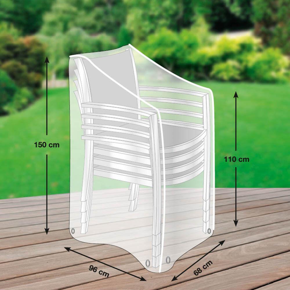 Premium Schutzhülle mehr mehr mehr Garten für Stapelstühle XL wasserdicht Oxford 600 D     | Vogue  e4a8df