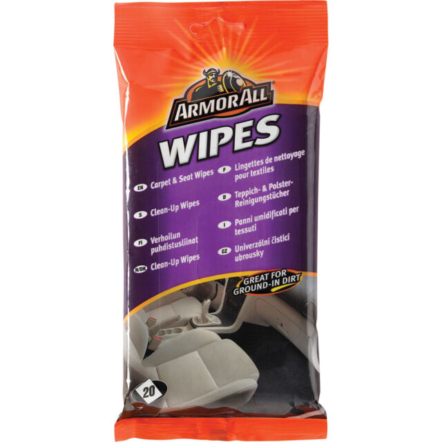 Armorall Carpet & Seat Wipes Pouch Pack of 20