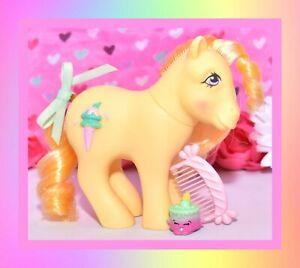 My-Little-Pony-MLP-G1-Vtg-Swirly-Whirly-Butter-Kiss-Sundae-Best-Pony-amp-Comb