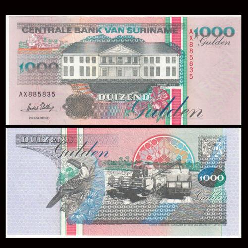 1995 P-141,banknotes UNC Suriname 1000 1,000 Gulden