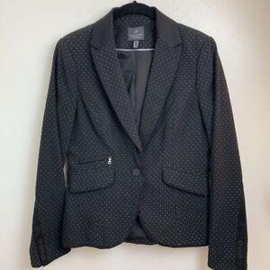 Adrianna-Papell-Womens-Suit-Blazer-Blue-Floral-Peak-Lapel-Pockets-Buttons-8-New