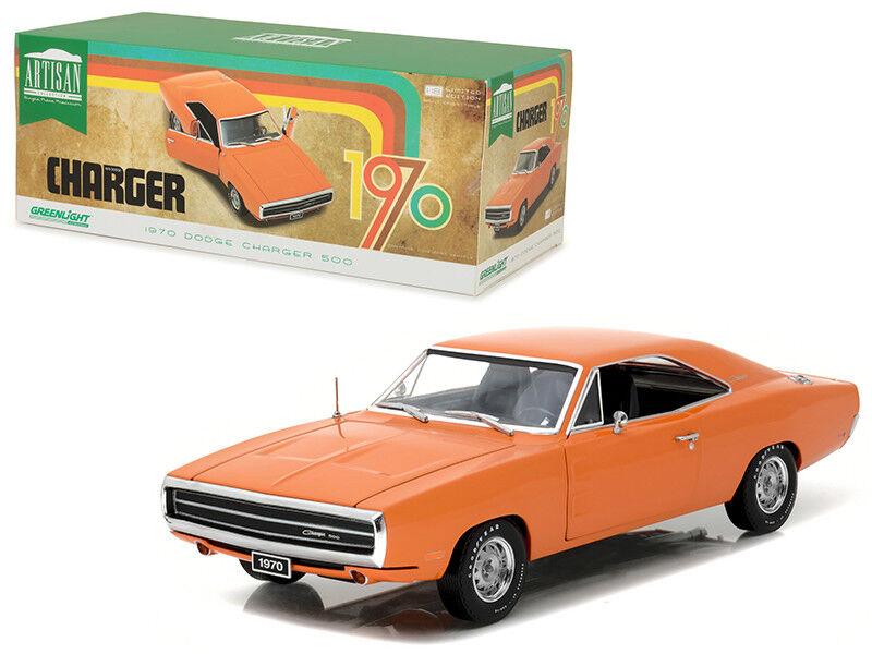 1 18 verdelight 1970 Dodge Cochegador 500 Diecast Modelo Coche Hemi Naranja 19028